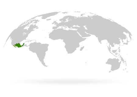 Territory of Mexico on planet Earth. The Earth, World Map on white background. Vector illustration. EPS 10