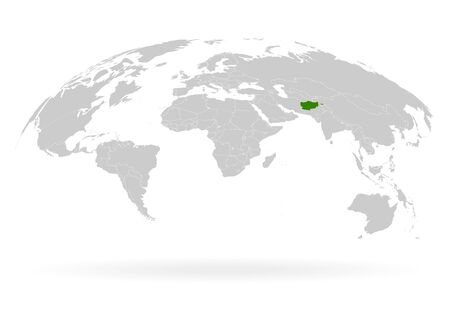 Territory of Afghanistan. Planet Earth. The Earth, World Map on white background. Vector illustration. EPS 10