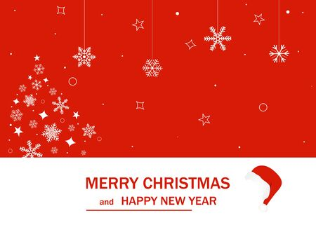 Merry Christmas and Happy New Year. 2020. Vector illustration.