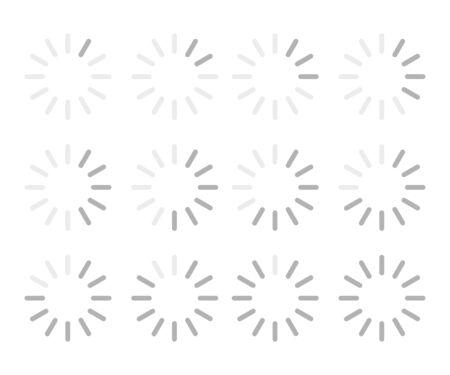 Collection of loading progress bars. Circle shape. White background. Vector illustration. EPS 10 일러스트