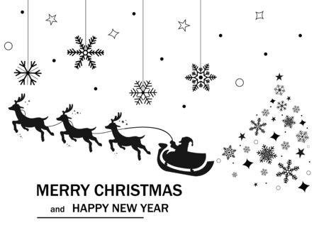 Merry Christmas and Happy New Year. 2020. Vector illustration. EPS 10 일러스트