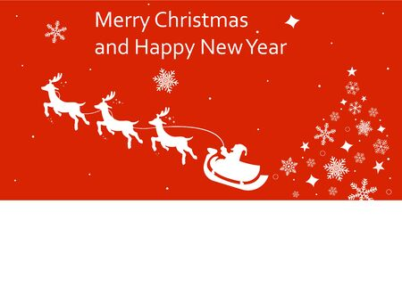 Merry Christmas and Happy New Year. 2020. Vector illustration. EPS 10 Ilustracja
