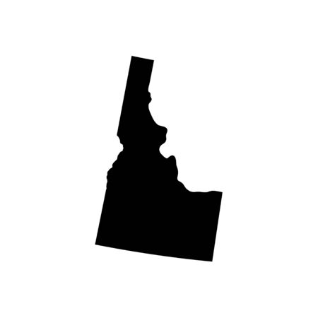 Idaho - US state. Territory in black color. Vector illustration. EPS 10