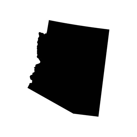 Arizona - US state. Territory in black color. Vector illustration. EPS 10