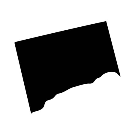 Connecticut - US state. Territory in black color. Vector illustration. 일러스트