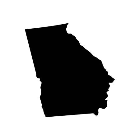 Georgia - US state. Territory in black color. Vector illustration. EPS 10