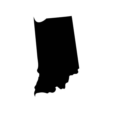 Indiana - US state. Territory in black color. Vector illustration.