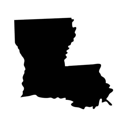 Louisiana - US state. Territory in black color. Vector illustration. EPS 10 Ilustracja