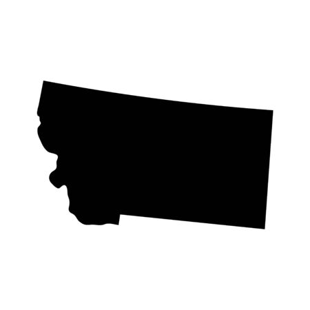 Montana - US state. Territory in black color. Vector illustration.