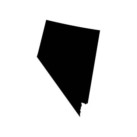 Nevada - US state. Territory in black color. Vector illustration. EPS 10 Ilustracja