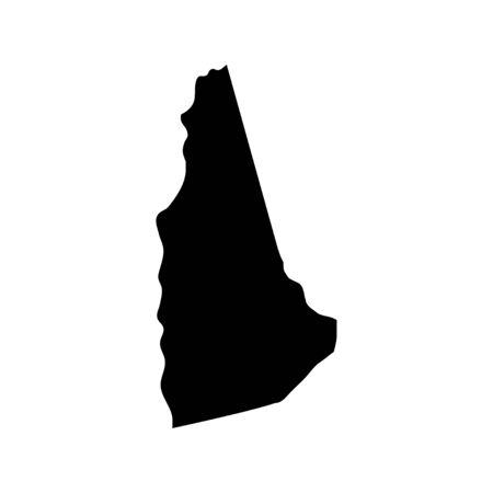 New Hampshire - US state. Territory in black color. Vector illustration. EPS 10