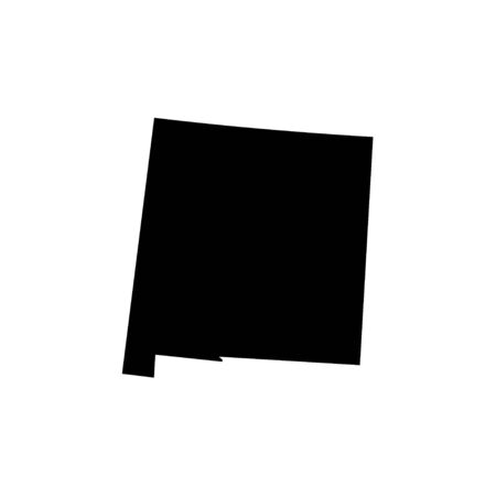 New Mexico - US state. Territory in black color. Vector illustration.