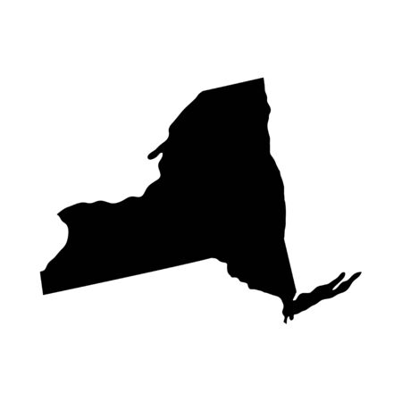 New York - US state. Territory in black color. Vector illustration. EPS 10 Ilustracja