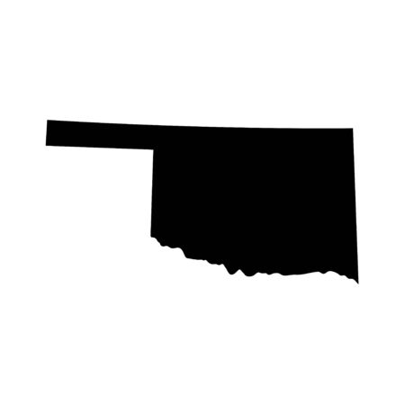 Oklahoma - US state. Territory in black color. Vector illustration. EPS 10