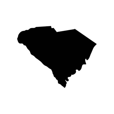 South Carolina - US state. Territory in black color. Vector illustration. EPS 10 Ilustracja