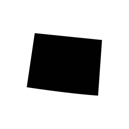 Wyoming - US state. Territory in black color. 向量圖像