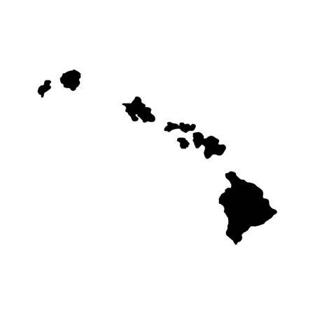 Hawaii Islands - US state. Territory in black color. Vector illustration. EPS 10 일러스트