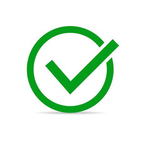 Check mark sign. Confirmation mark. Vector illustration. EPS 10