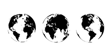 Planet Earth. The Earth, World Map on white background. Vector illustration. EPS 10