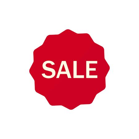 Sale tag, discount sign. Vector illustration.