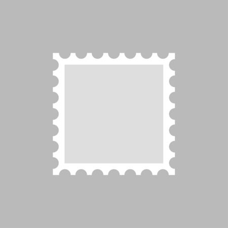 Postage stamp template, blank.