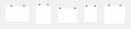 Note pad blank, template. Clear sheet of paper with staple