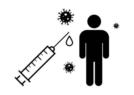 Coronavirus 2019-ncov. Covid-19 concept. Vaccine from coronavirus.