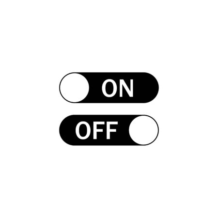 Switch control On and Off. Toggle switch icons. Turning On Or Off. Иллюстрация