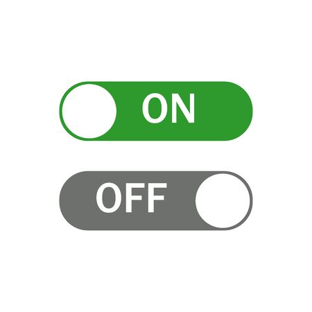 Switch control On and Off. Toggle switch icons. Turning On Or Off. 일러스트