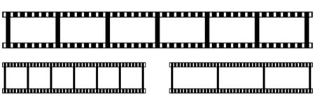 Camera and cinema film strip. Vector illustration. EPS 10 矢量图像
