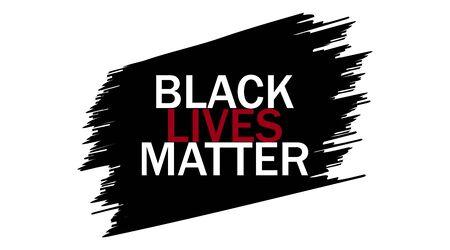 Black lives matter. Social protest, slogan. Vector illustration 矢量图像