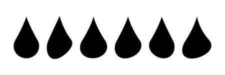 Realistic water drop. Pure, clean water drops. Water Rain. White background. Vector illustration. EPS 10