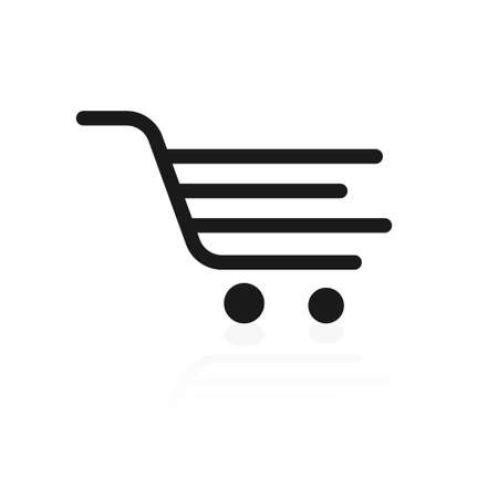 Shopping trolley, cart on white background. 일러스트