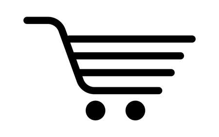 Shopping trolley, cart on white background. Vector illustration. EPS 10