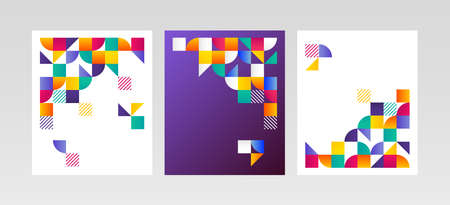 Geometric covers and backgrounds. Collection of trendy and modern designs. Suitable for covers, posters, flyers, banners etc.