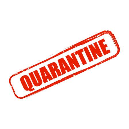 Quarantine sign. Coronavirus COVID-19. Pandemic. Virus quarantine. Stop and protection sign. Ilustração