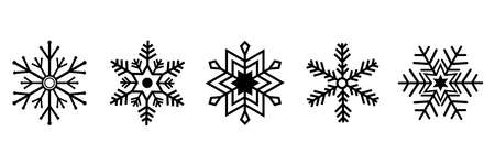 Collection of snowflakes. Vector illustration. EPS 10
