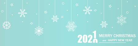 Merry Christmas and Happy New Year. 2021. Vector illustration Ilustração