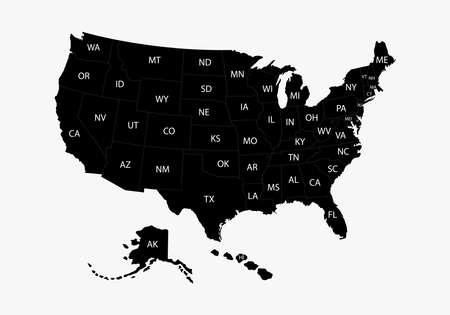 States of America territory. North America. Ilustração