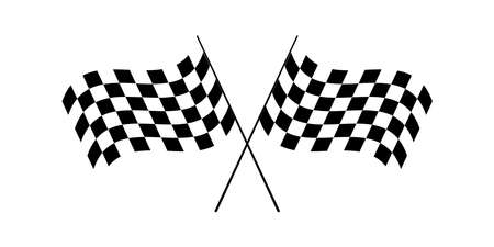 Racing flag. Finish flags. Square, chess pattern. Race flag, car racing sport. Vector illustration. EPS 10