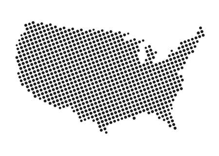States of America territory. North America. Vector illustration. EPS 10