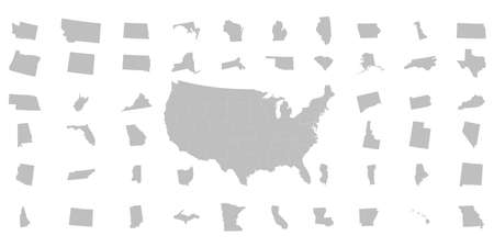 States of America territory. North America. Vector illustration.