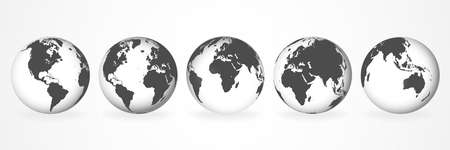 Planet Earth. Earth Day. The Earth, World Map on white background.