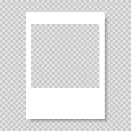 Photo frame. Frame-border template. Gray color. Vector illustration.