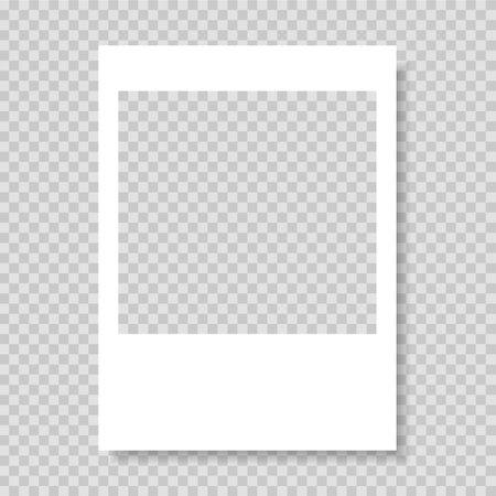Photo frame. Frame-border template. Gray color. Vector illustration.