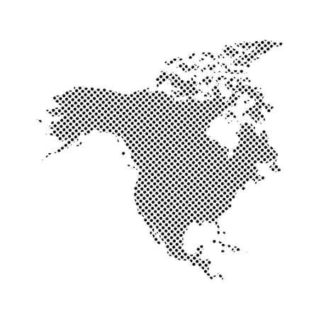 States of America territory. North America. Canada. Vector illustration.