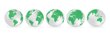 Planet Earth. Earth Day. The Earth, World Map on white background. Vector illustration. EPS 10