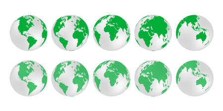 Planet Earth. Earth Day. The Earth, World Map on white background. Vector illustration