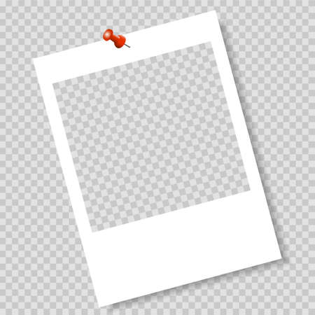 Photo frame. Frame-border template. Gray color.
