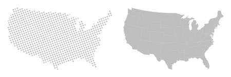 States of America territory. North America. 矢量图像